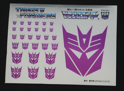 TRANSFORMERS Masterpiece Decepticons Symbol Sticker Sheet - UK Stock 32 Stickers • 7.55£