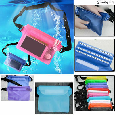 £5.99 • Buy Completely Waterproof Pouch Travel Beach Swimming Cycling PVC Waist Dry Bum Bag