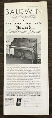 $11.69 • Buy 1936 Baldwin Piano Co. Print Ad The Amazing New Howard Acrosonic Piano
