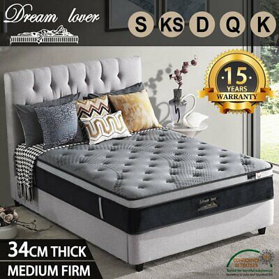 AU242.10 • Buy Dream Lover Bedding Mattress Queen King Single Double Euro Top Pocket Spring