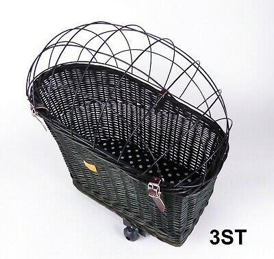 Wiklibox Wicker Bike Rack Dog Cat Carrier In BLACK Color Iron Cage Solid Big Eco • 61.20£