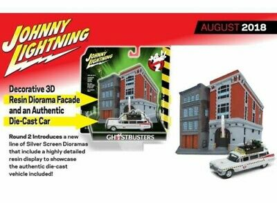 Johnny Lightning JLSP031 1/64 1959 GHOSTBUSTERS ECTO 1A WITH FIREHOUSE • 28.99£