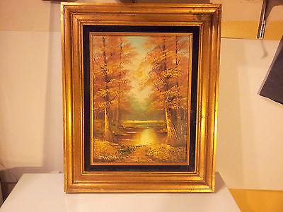 $ CDN89.36 • Buy Cantrell Acrylic On Canvas River In Forest Framed