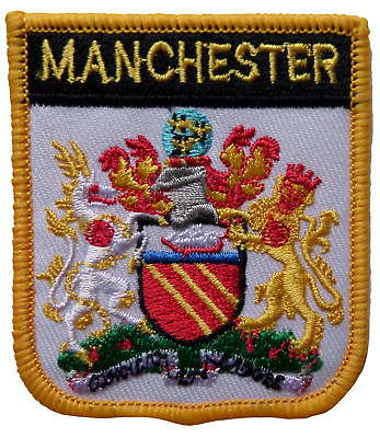 Manchester Shield Embroidered Patch • 4.50£