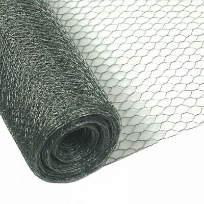 Chicken Rabbit Wire Galvanised Mesh 50m X 1m 25mm 0.8mm Roll Woven Metal Fence • 59.90£
