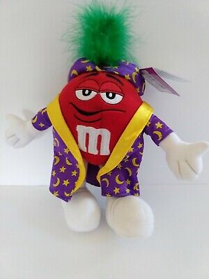 $6 • Buy M&M Plush Toy Fortune Teller Wizard 9 Inches Tall Red Purple Robe 2004 M&M