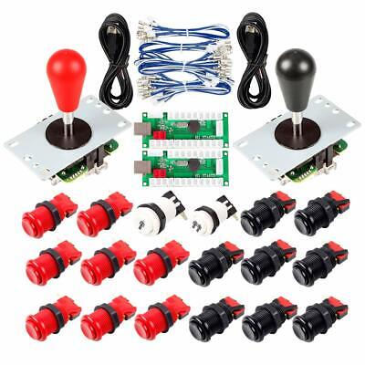 $39.99 • Buy 2 Player Arcade Joystick DIY Kit Part Bat Stick And American Style Push Buttons