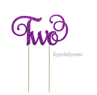 AU13 • Buy Cake Topper - Two - 2nd - 20+ Colours - NEXT DAY POST
