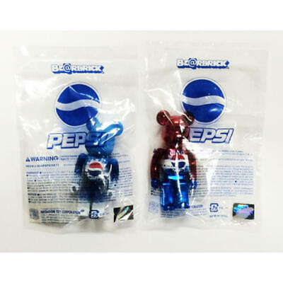 $199.99 • Buy BE@RBRICK 100% PEPSI Blue Red Set Lot Of 2 Hong Kong Limited Rare Bearbrick