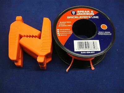 £11.01 • Buy Pair Of Spear & Jackson Bricklayer's Rubber Line Blocks WITH Orange Line