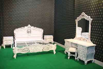 $4862.91 • Buy BESPOKE French Baroque Designer 6 Pieces Rococo Bed Set Wth King 5'bed Frame