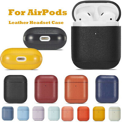 $ CDN7.04 • Buy For Apple AirPods Genuine Leather Cover Case Skin Headset Protective Accessories