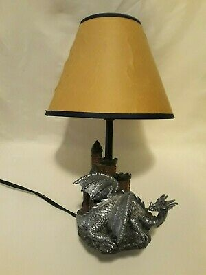 $79.99 • Buy Gothic Castle Dragon Accent Table Lamp & Shade 13.5 2002