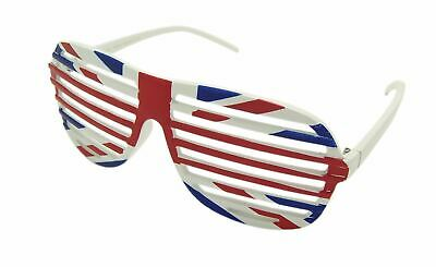 Unisex Union Jack Grill Specs Shutter Shades UK Brexit Politics Support Glasses • 3.50£