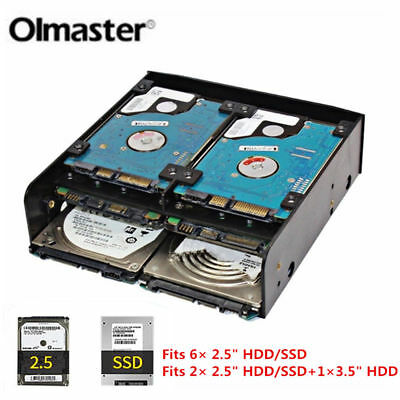 AU15.85 • Buy 5.25  To 3.5 /2.5  HDD SSD Hard Drive Tray PC Case Bay Adapter Mounting Bracket
