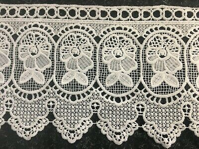 Cream Crochet Lace Trim Fabric • 1£