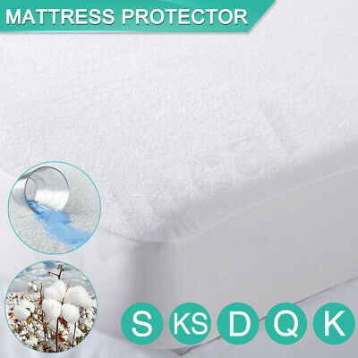 AU19.99 • Buy All Size Fully Fitted Terry Cotton Waterproof Mattress Protector Bed Soft Cover