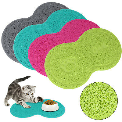 8 Shape Pet Dog Puppy Cat Feeding Mat Pad Cute PVC Bed Bowl Food Feed Placement • 3.99£