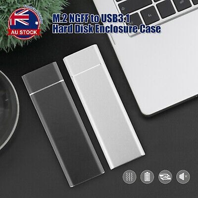 AU16.90 • Buy M.2 NGFF SATA TO USB 3.1 SSD Enclosure Case Type-C Hard Disk Box Adapter A