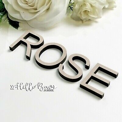AU1.45 • Buy MDF BLOCK LETTERS 10cm TALL  LASER CUT WORDS NAMES PERSONALISED KIDS HOME DECORE
