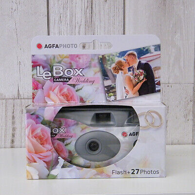 Wedding Themed Disposable Agfa Camera 27 Photos With Flash, ISO 400 • 10£