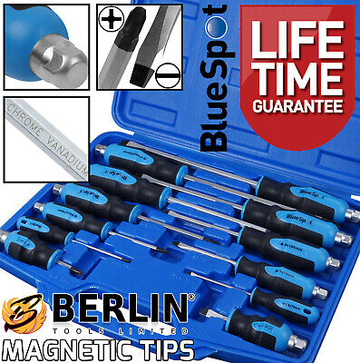 £21.95 • Buy Magnetic Screwdriver Set HEAVY DUTY Philips & Slotted Go Through Drivers PH0-PH4