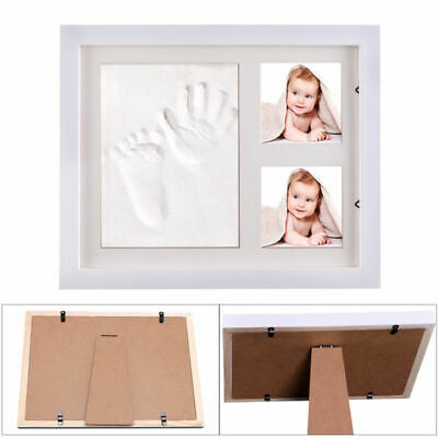 £11.69 • Buy Baby/Kid Hand&Foot Print Clay Cast Kit&2 Photo Picture Frame Christening Gift