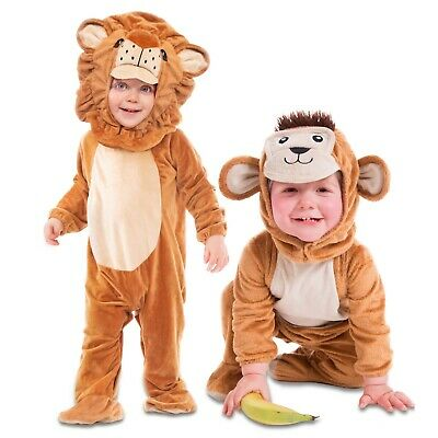 £14.99 • Buy Deluxe Baby Toddler Animal Zoo Farm Fancy Dress Costume Sizes 6 12 18 24 Months