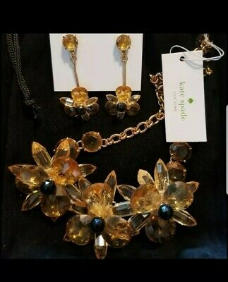 $ CDN125.60 • Buy NWT Kate SPADE Jewelry Set Blooming Brilliantly Necklace & Matching Earrings