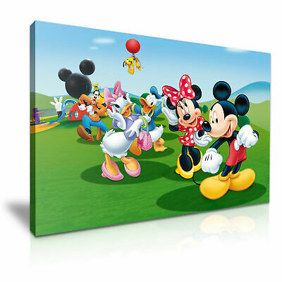 DISNEY Mickey Mouse Canvas Wall Art Wood Framed Ready To Hang XXL • 10£