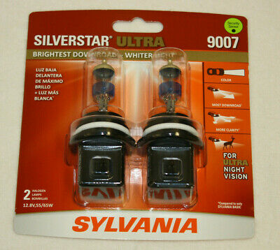 $29.99 • Buy NEW Sylvania Silverstar ULTRA 9007 Pair Set High Performance Headlight 2 Bulbs