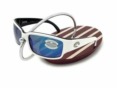 69e96ff92c96 NEW Costa Del Mar CABALLITO White & Black / 580 Blue Mirror Glass 580G •  154.95
