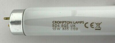 15W T8 White Tube  F15/835 Blub 438 Mm Excluding Pins Crompton Known As 18  835 • 6£
