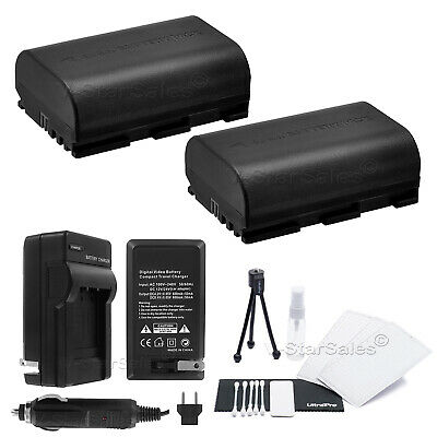 2x LP-E6 Battery + Charger For Canon EOS 7D 60D 5D Mark III • 19.32£