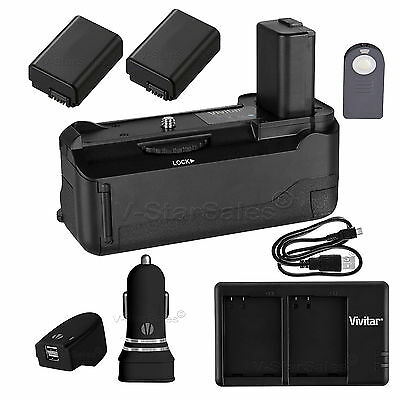 $ CDN122.81 • Buy Battery Grip For Sony A6000 + 2x NP-FW50 Battery + AC/DC USB Dual Charger