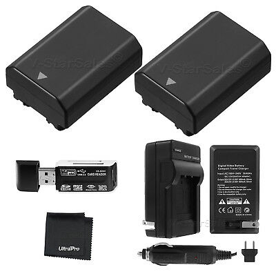 $ CDN91.09 • Buy 2x NP-FZ100 Battery + Charger + Card Reader For Sony Alpha A9 A7R III A7 III