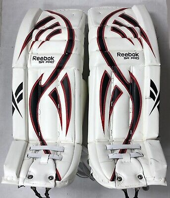 $699.99 • Buy Reebok Larceny Pro Hockey Goalie Leg Pads 34 +2 Red White Black Sr Goal Pad