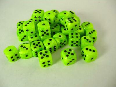 AU33.35 • Buy 36D6 Vortex Bright Green/Black Dot Dice - Chessex Free Shipping!