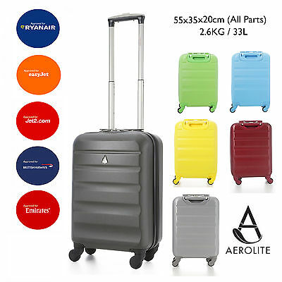 Aerolite Lightweight ABS Hard Shell 4 Wheel Cabin Bags Suitcase Luggage Sets • 35.99£