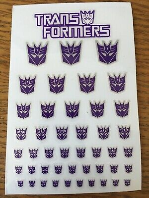 TRANSFORMERS Masterpiece Decepticons Symbol Sticker Sheet - UK Stock 45 Stickers • 8.55£