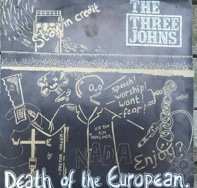 The Three Johns, Death Of The European 7  Vinyl In Pic Sleeve, 1985 • 5£