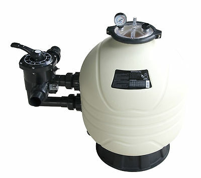 SWIMMING POOL FILTER 24  600mm SIDE MOUNT POOL FILTER 14m³/hr INC GLASS SAND • 476.94£