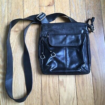 $ CDN24.99 • Buy Danier Black Leather Crossbody Bag Purse