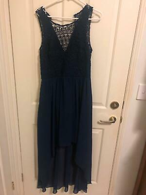 AU57 • Buy Forever New Navy Lace Dress Size 14