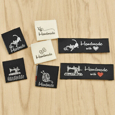 £2.56 • Buy 50 Pcs Washable Woven Labels Handmade Fabric Garment Tags Clothing Sewing Crafts
