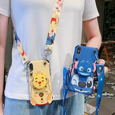 AU11.68 • Buy Cute Disney Stand Holder Strap Shockproof Case Cover For IPhone 12 Pro Max 11 XR