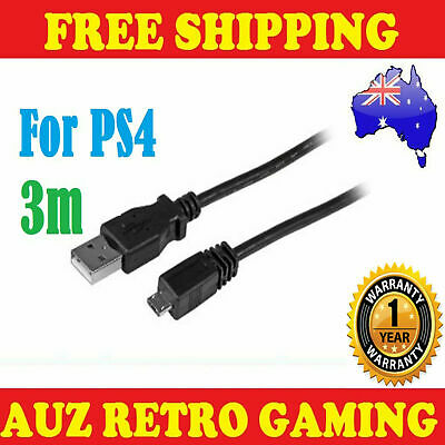 AU6.90 • Buy 3M USB Power Charge Charger Cable For Playstation 4 Controller PS4