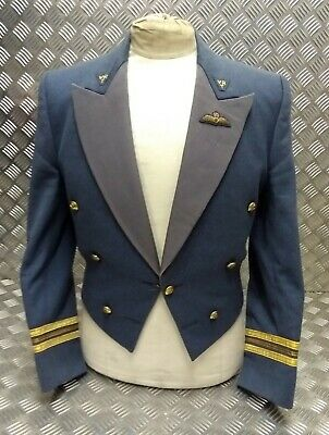 Genuine Vintage RAF Issue Officers Squadron Leaders Mess Dress Jacket Moss Bros • 119.99£