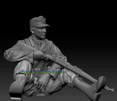 NEW 120mm WWII Resin Unpainted 1/16 Soldier Figure Model Unassembled Statue Gk • 23.55£
