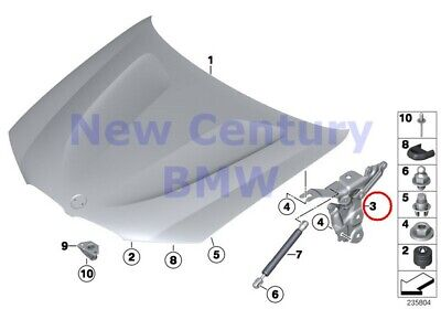 $85.43 • Buy BMW Genuine Engine Hood/Mounting Parts Left Engine Hood Hinge F25 F26